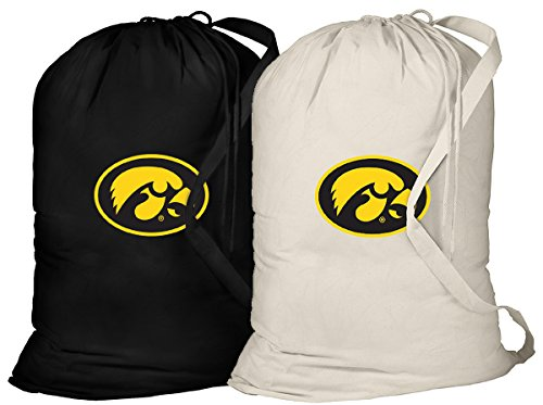 Broad Bay University of Iowa Laundry Bag -2 Pc Set- Iowa Hawkeyes Clothes Bags