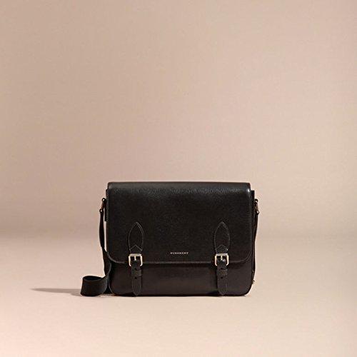 BURBERRY Classic Medium London Leather Messenger Bag - Black  Amazon.ca   Shoes   Handbags f2464009e41c7