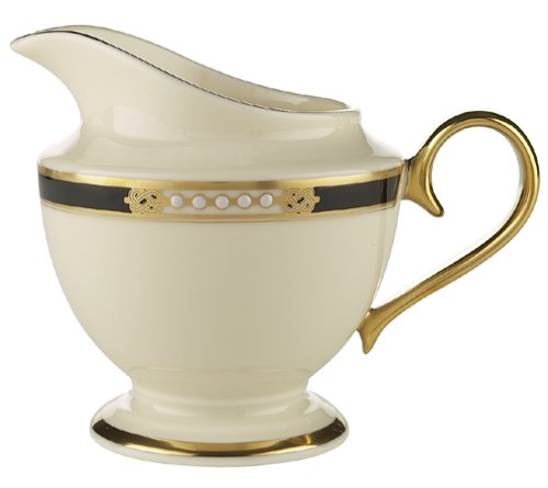 Gold Banded Fine China - Lenox Hancock Gold-Banded Fine China Creamer