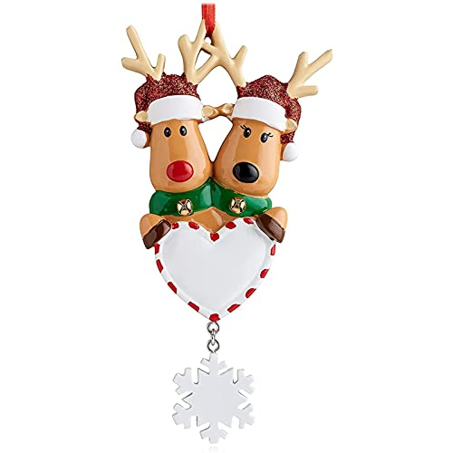 2021 New Christmas Tree Ornaments, Personalized Cute Deer Winter Funny Decor Family Resin Ornament for Christmas Tree Home Decorations Creative Gift (2)