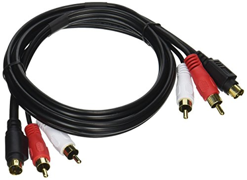 (Monoprice 102187 3-Feet S-Video and 3-Feet RCA Audio Cable-Molded)