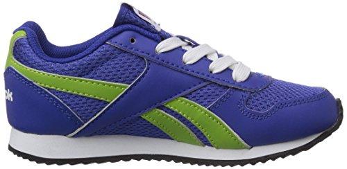 Reebok Royal Classic Jogger, Jungen Laufschuhe Blau (Reebok Royal/Ultra Lime/White/Black)