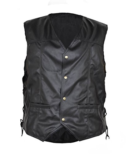 HLS Men's Walking Dead Angel Faux Leather Vest