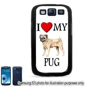 Pug I Love My Dog Photo Samsung Galaxy S3 i9300 Case Cover Skin Black