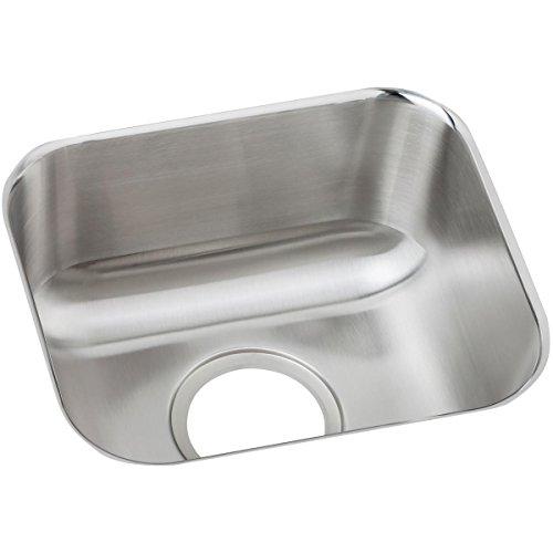 (Elkay DXUH1210 Dayton 14-1/2-Inch by 12-1/2-Inch Stainless Steel Undermount Bar Sink, Satin Finish)
