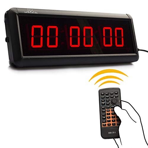 Price comparison product image Leadleds 1.5 inch Digital Clock Display Countdown Count up LED Timer for Home Office Gym Use Stopwatch with Remote