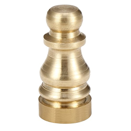 uxcell Solid Brass Knob Lamp Finial Decoration Accessories 1 inch High