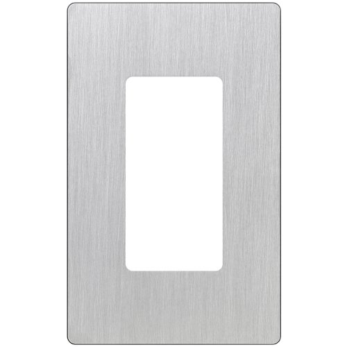 Stainless Steel Wall Plate - Lutron Claro 1 Gang Decorator Wallplate, CW-1-SS, Stainless Steel