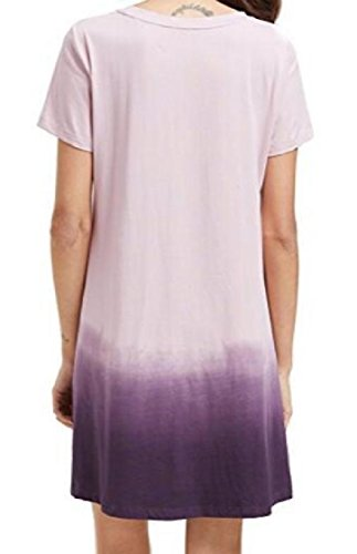 Short Purple Sleeved Line Coolred Dress Baggy Sexy Wear Beach Women A Gradient Exwaq1Ba