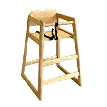 LA Baby Commercial/Restaurant Wooden High Chair, Natural (Discontinued by Manufacturer) by LA Baby