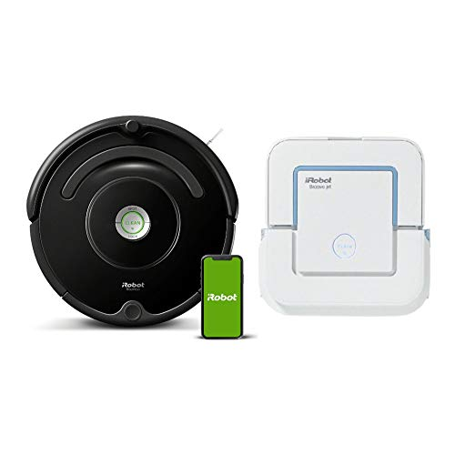 iRobot Roomba 675 Wi-Fi Connected Robot Vacuum Cleaner with Braava 240 Wet Jet Mop Bundle (2 Items)