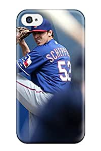 DanRobertse Iphone 4/4s Hybrid Tpu Case Cover Silicon Bumper Texas Rangers