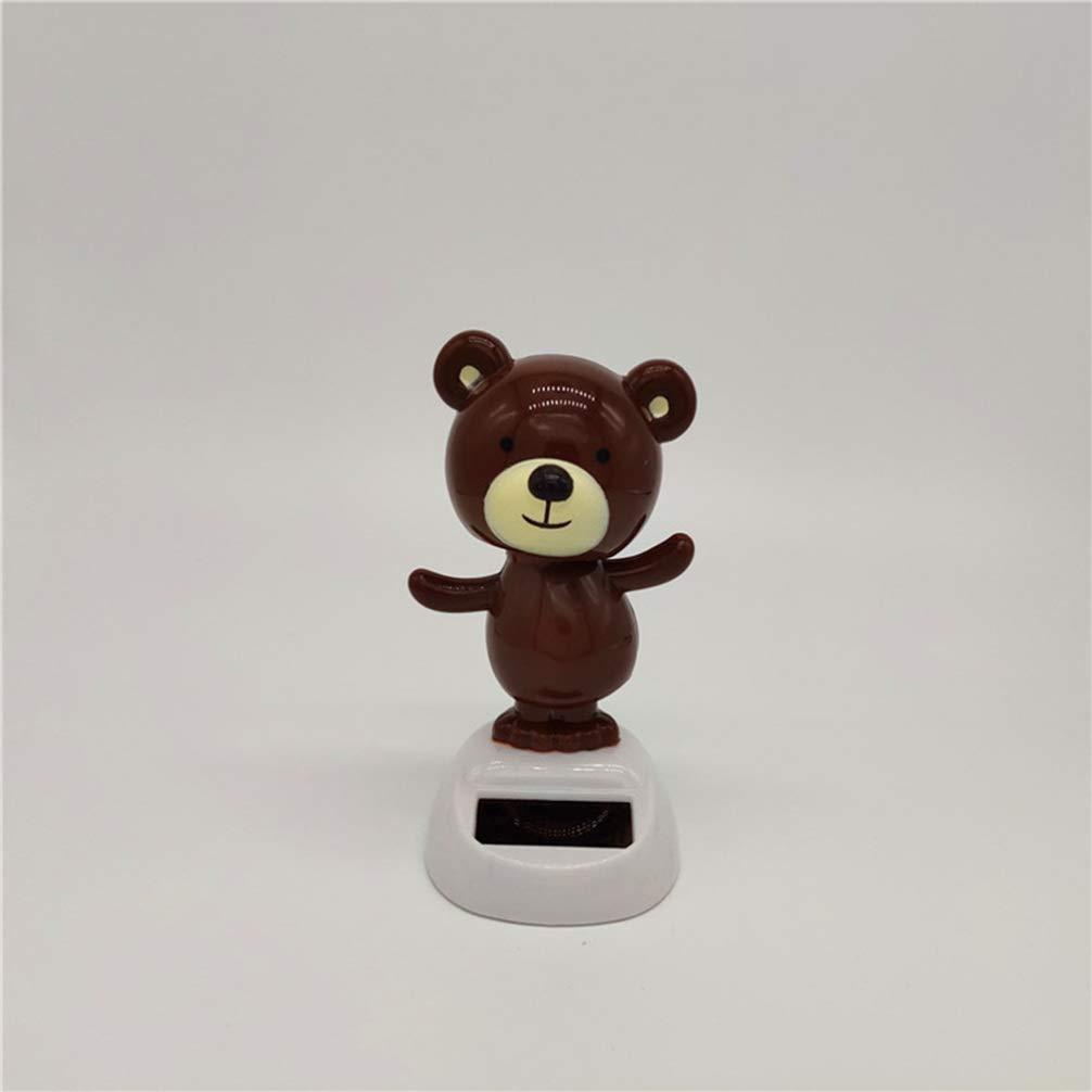 Amosfun Figurine Solaire en Forme dours Qui Bouge la t/ête