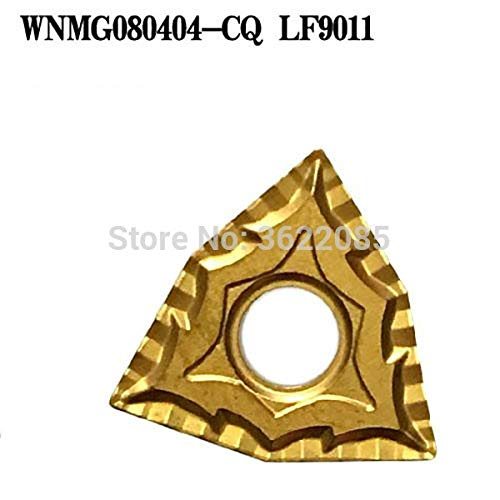FINCOS 10pcs WNMG080404 WNMG080408-CQ LF9011 CVD Coated Turning Inserts For Steel - (Angle: R0.4) ()