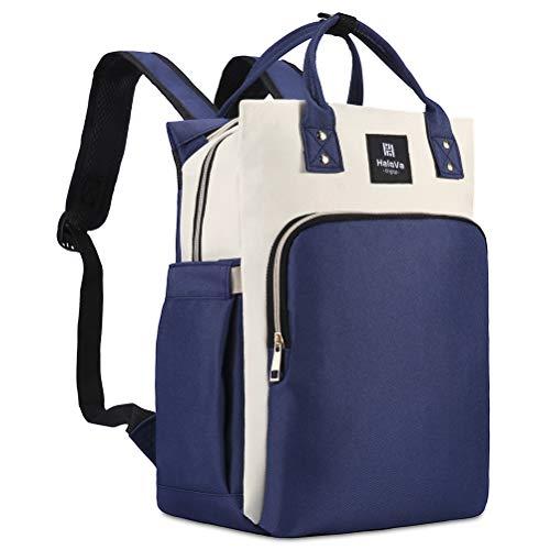 HaloVa Diaper Bag, Baby Nappy Backpack, Trendy Travel Nursin