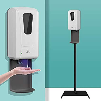 Amazon Com Hand Sanitizer Stand Automatic Hand Sanitizer Dispenser With Floor Stand Station Sturdy Stand And Touchless Sensor Soap Dispenser With Drip Tray 1200ml Beauty