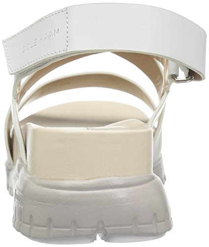 Cole Haan Kvinners Zerogrand Kryss Og Kryss Gladiator Sandal Optisk Hvit / Damp Grå