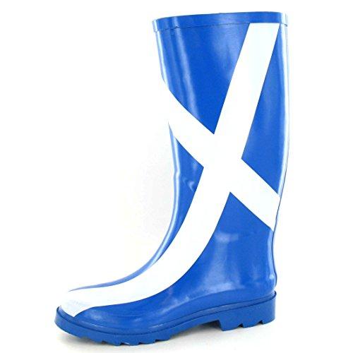 Spot On Womens/Ladies Scottish Flag Wellington Boots