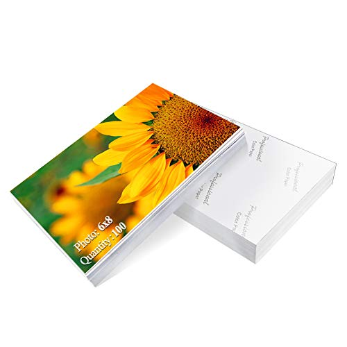 (Photo Paper 6x8 inch High Glossy Paper 100 Sheets )