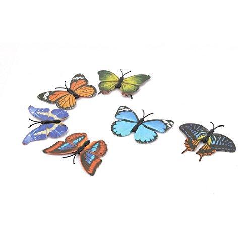 eDealMax de plstico para el hogar Refrigerador pizarra tabln de anuncios de la mariposa imn Diseo colorido 6pcs