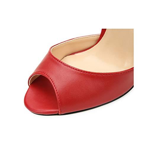 Red Toe Les L'open Capuche Talons 44 Classique Femmes Stiletto Sandales Hauts red De 7qqnZpC
