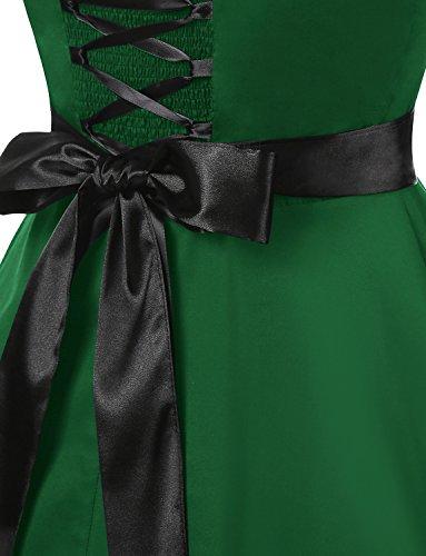 Halter Dressystar Green 60s Rockabilly Army Estampado Corto Mujer Solid Lunares Vestidos Vintage y Fiesta Flores 50s Cuello Retro wtqwHrF