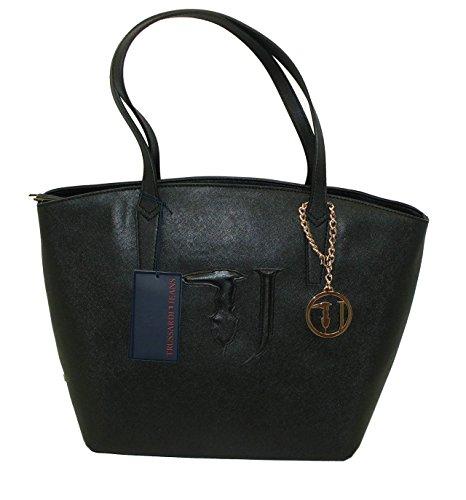 Borsa TRUSSARDI JEANS B560 handbag SHOPPING ischia NERO