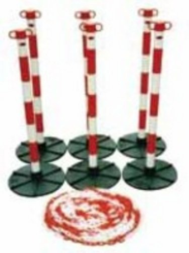 JSP HDE110005454 Demarcation Barrier Chain, Support Post, Red/White JS71403