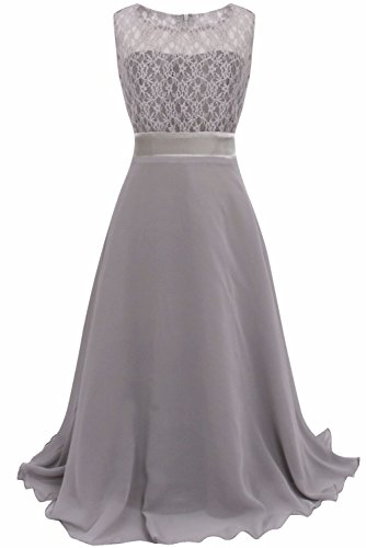iEFiEL Girls Chiffon Flower Wedding