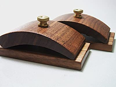 1 Pair Walnut Wood Quilt Hang-Ups Clamps Clips - Large by Hang-Ups Quilt Clamps