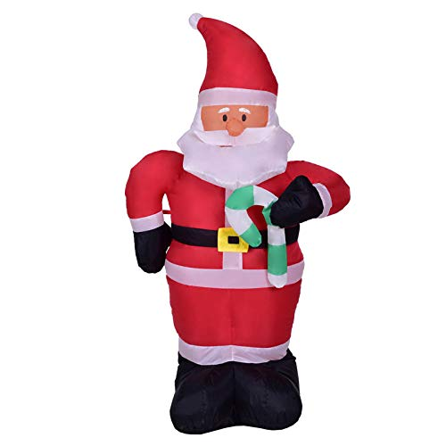 Viet-SC Inflatable Bouncers - 120cm Giant Santa Claus with Crutch LED Lighted Inflatable Toys Christmas Halloween Props Birthday Wedding Party Toy Yard Deco 1 PCs -