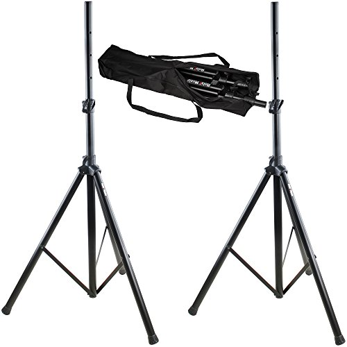 Hola! HPS-200PA, PRO Adjustable Height 6ft Tripod PA Speaker Stand with Carrying Bag, PAIR