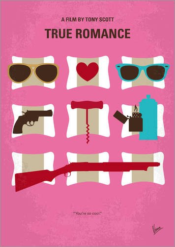 POSTERLOUNGE Acrylic print 30 x 40 cm: No736 My True Romance minimal movie poster by chungkong