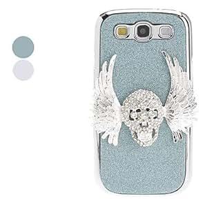 CECT STOCK Diseño 3D Skull Hard Case para Samsung I9300 Galaxy S3 (colores surtidos) , Color Plata