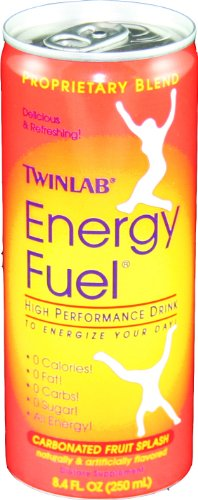 Twinlab Energy Fuel High Perfomance, Carbonated Fruit Splash, 8.4-Ounces (Pack of 24) (Energy Fuel Drink)