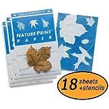Nature Print Paper - Wholesale Bulk Pack of 18