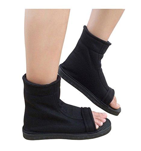 DAZCOS Black Shippuden Ninja Shoes [US 5 - US 11] [ Adult / Child ]