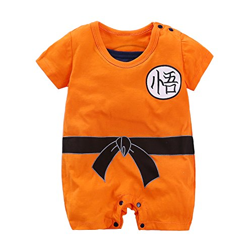 Yierying Newborn Wukong Jumpsuits Baby Lovely Short Sleeve Cartoon Romper Baby Clothes -