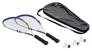 Hudora Badmintonset Speed HD-55, 75014 (2 Schläger, 3 Federbälle,...
