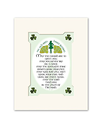 - Irish Blessing Step Dance May The Croud Print Commemorative Gift WW172