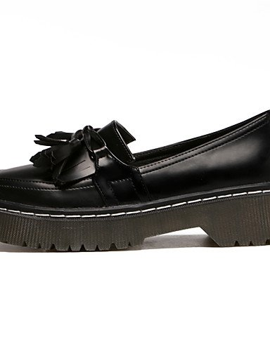 GGX/ Damen / Unisex-High Heels-Büro / Kleid-Lackleder-Plateau-Plateau / Creepers-Schwarz / Braun black-us7.5 / eu38 / uk5.5 / cn38