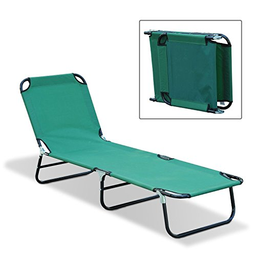 Outdoor Sun Chaise Lounge Recliner Patio Camping Cot Bed Beach Pool Chair Fold