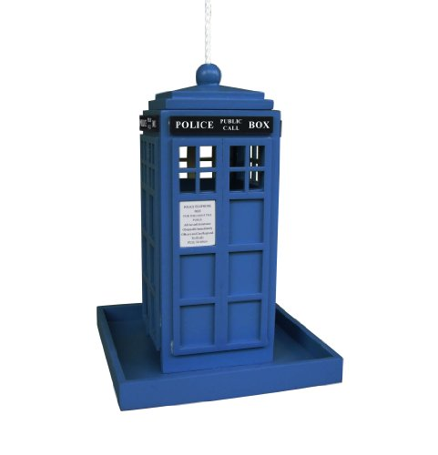 Home Bazaar HBD-1004S British Inspired Police Call Box Feeder, Royal (Royal Bird Feeder)