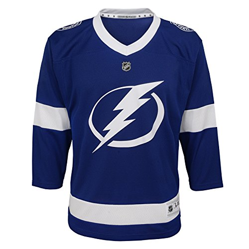 Outerstuff NHL Tampa Bay Lightning Youth Boys Replica Home-Team Jersey, Small/Medium, ()