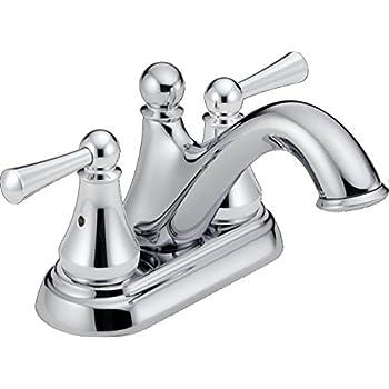 Delta Faucet 25999LF Haywood Two Handle Center-Set Bathroom Faucet, Chrome