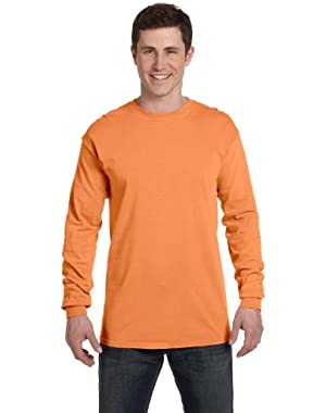 Ringspun Garment-Dyed Long-Sleeve T-Shirt (C6014)- MELON, XL