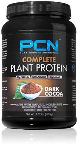 Pure Charge Nutrition Complete Plant Protein Powder, Dark...