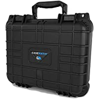 CASEMATIX Waterproof Customizable Projector Carry Case for TENKER Q5 Projector 1500 LUX LCD , Remote Control , Cables and Compact Accessories