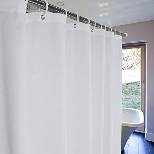 UFRIDAY Shower Curtain Liner 75 Inch Long Fabric Mildew Resistant With Rust Proof