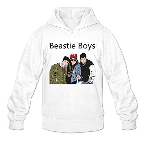 Men's Beastie Boys Art Hoodies Sweatshirt Size L US White